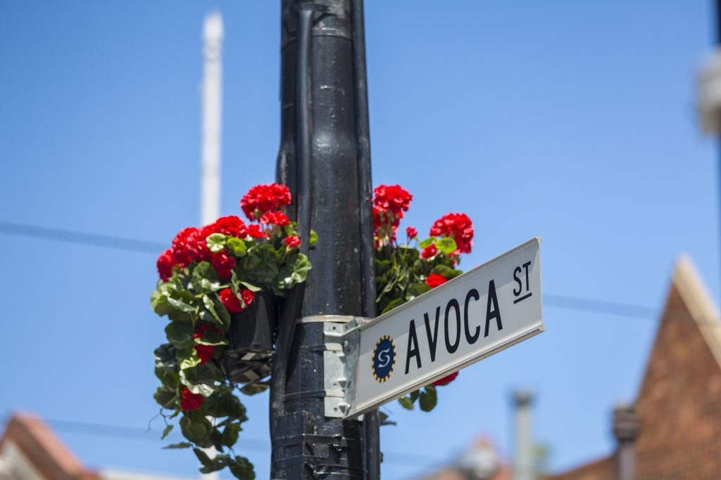 Avoca Street South Yarra Street Sign